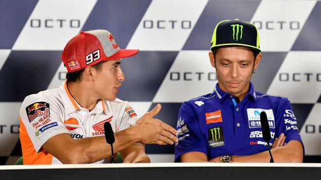 Rossi niega la mano a Márquez, ante la carrera más especial del año.