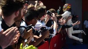 Hamilton derrota Vettel en un Circuit ple
