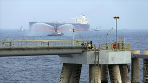 Imagen de petroleros enFujairah.