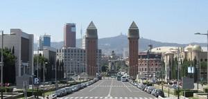 Sede de Feria de Barcelona en la Plaza España.