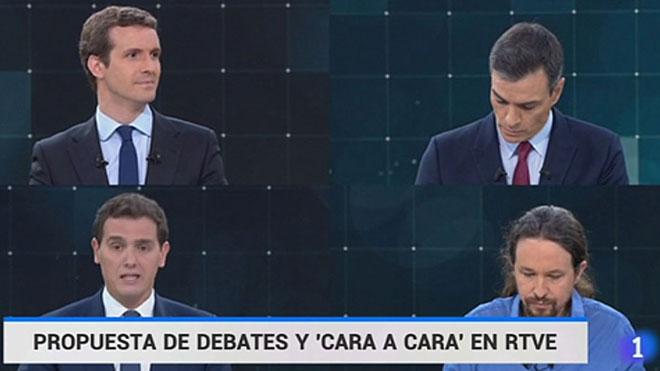 TVE ya ha anunciado debate y cara a caras.