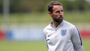 Southgate, en un entrenamiento de la selección inglesa.
