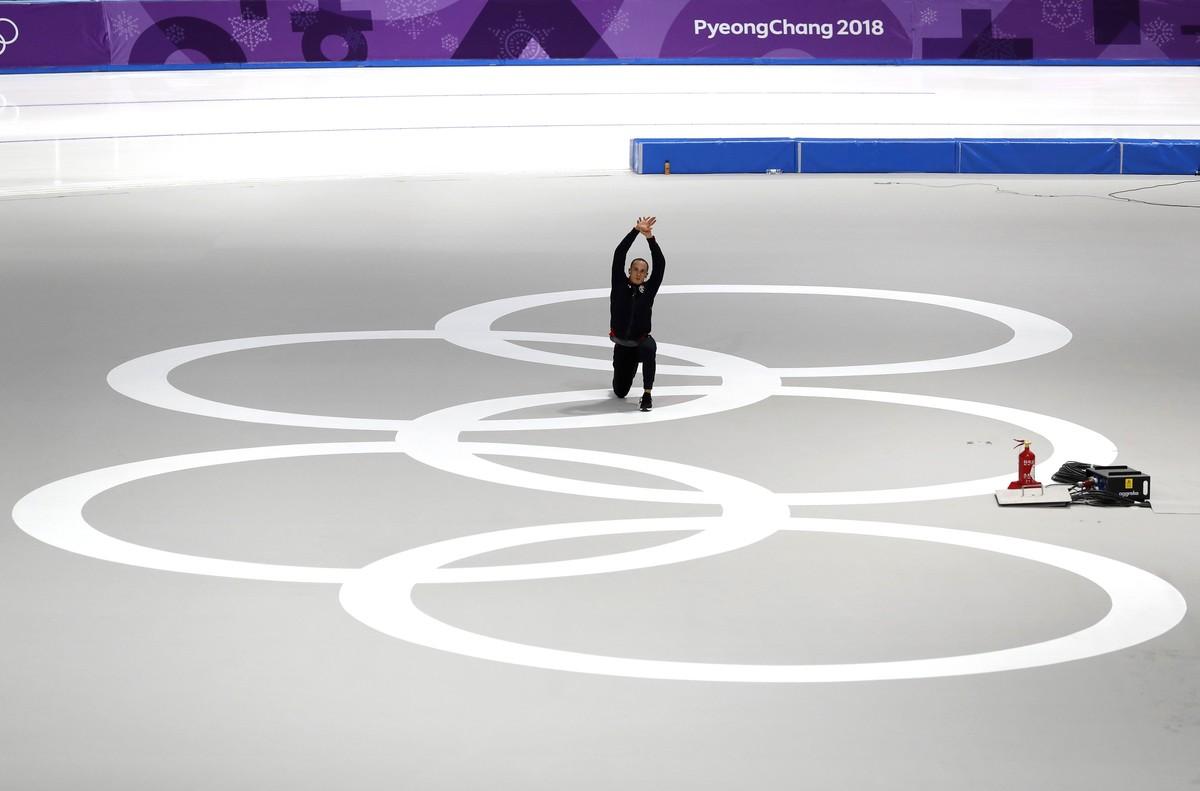 Un patinador de la delegación estadounidense.