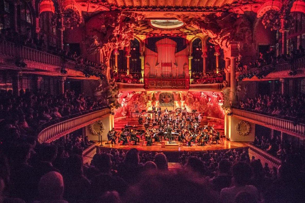 La Royal Film Concert Orchestra, durante un concierto en el Palau.