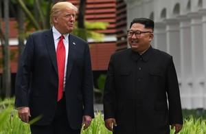 Trump y Kim, en la reunión que mantuvieron el pasado 11 de junio.