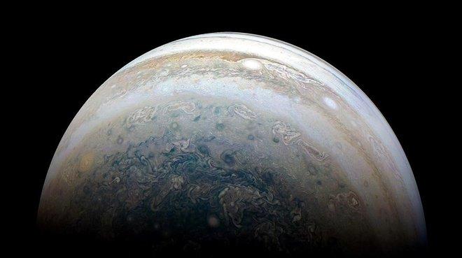 Júpiter desde la nave Juno en un viaje anterior.