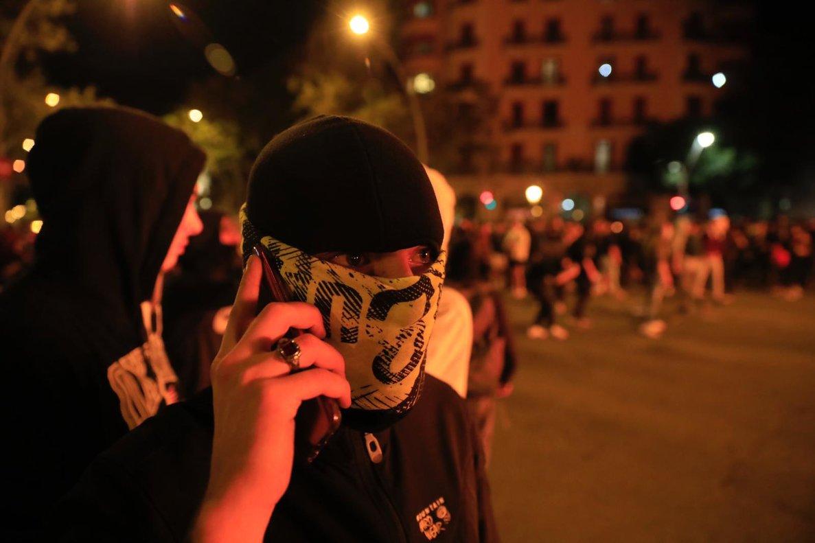 Uno de los activistas.