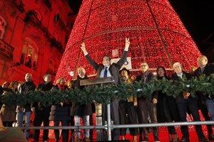 El alcalde de Vigo, Abel Caballero, durante el encendido de las luces de Navidad del año pasado, a finales de noviembre.