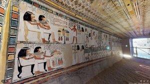 Visita virtual a la tumba egipcia de Menna.