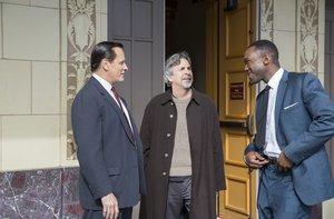 El director, Peter Farrelly (centro), en el rodaje con los protagonistas.
