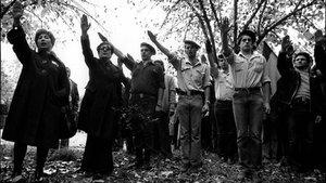 Un grupo de falangistas españoles, intrépidamente fotografiados por Bosch.
