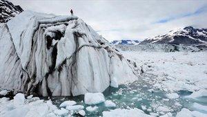 Un investigador recoge muestras en el océano Ártico, en una imagen de archivo del año 2008