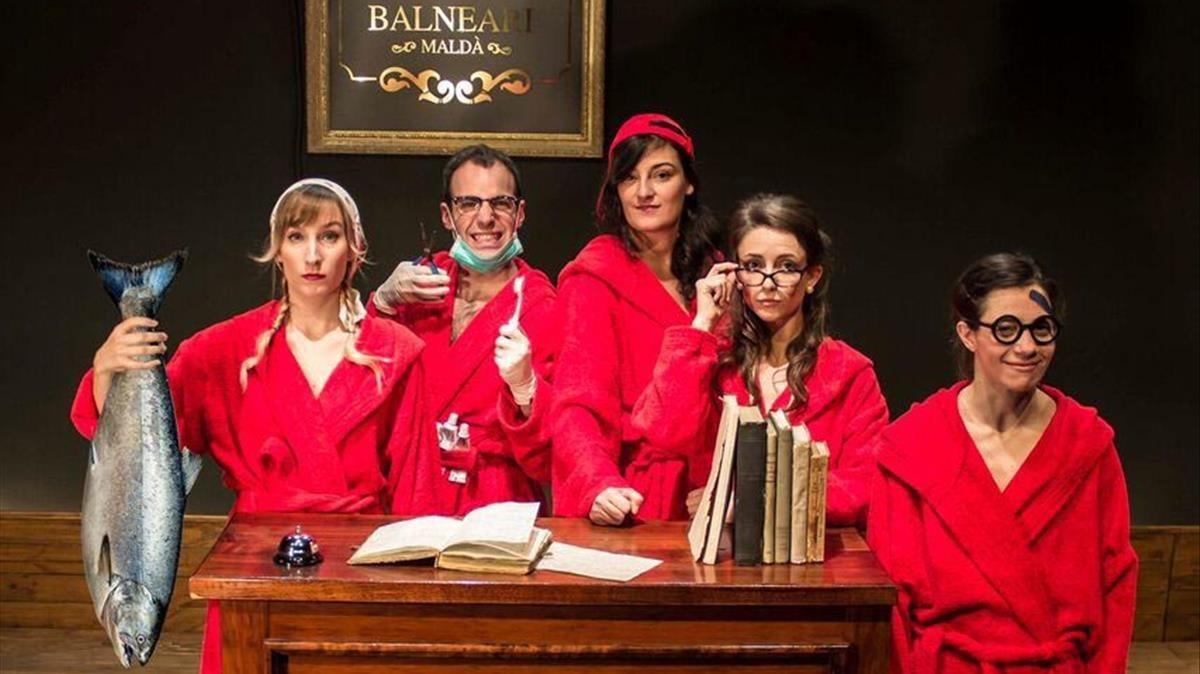 Cartel de Balneari, una trilogía sobre identidad,poder y educación de Els Pirates estrenada en El Maldà.