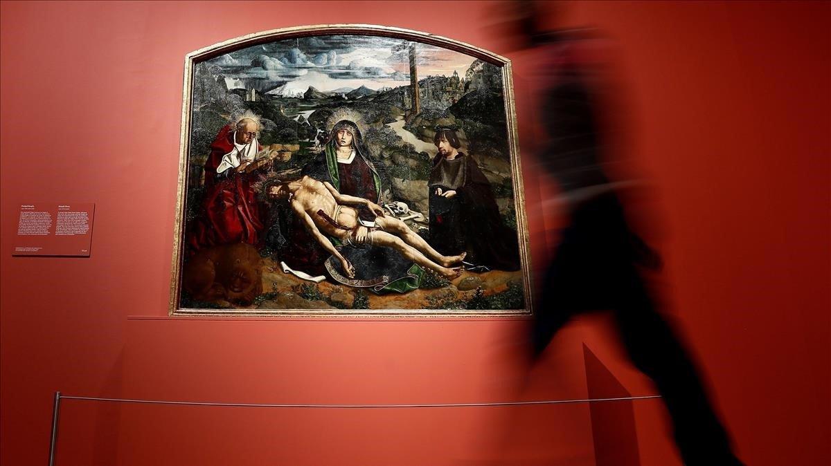 'La Pietat Desplà', la gran obra maestra de Bartolomé Bermejo, en el Museo del Prado.
