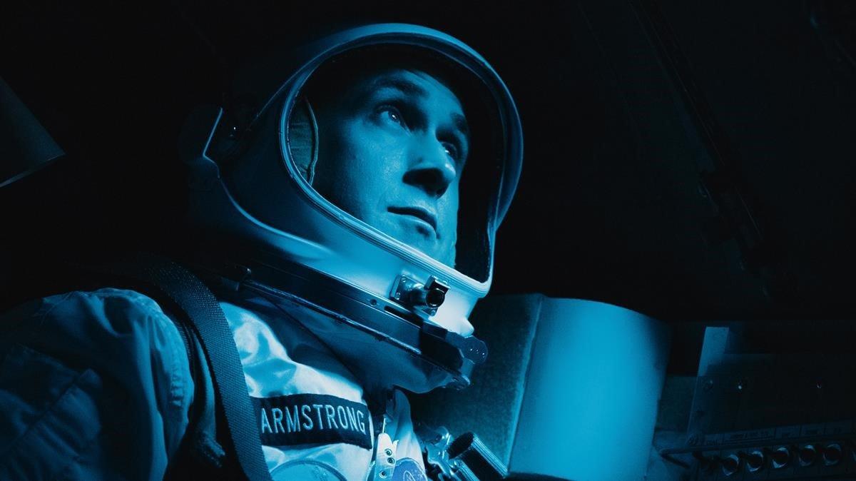 Ryan Gosling, como Neil Armstrong, en un fotograma de 'First man'.