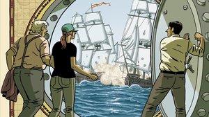 Fragmento de la portada de El tesoro del Cisne Negro, de Paco Roca y Guillermo Corral.