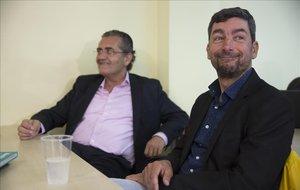 Joan Canadell, derecha; y Pere Barrios.