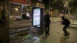 Barcelona valora en 1,5 milions els danys de les quatre nits de disturbis