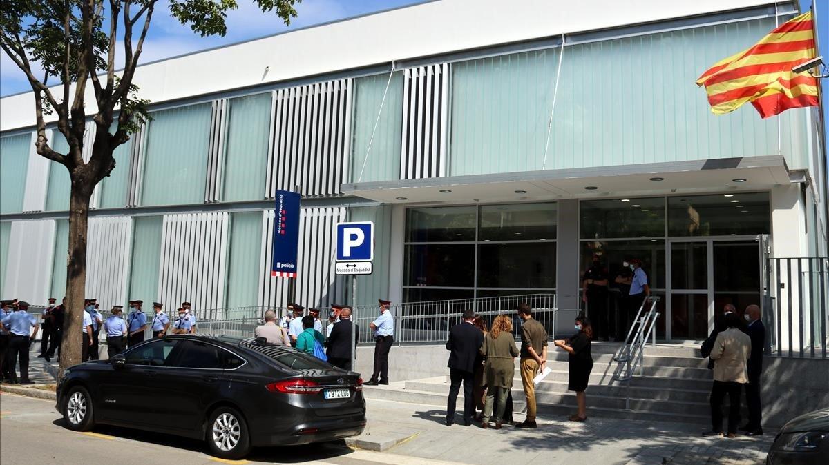 La nueva comisaría de los Mossos d'Esquadra, en la calle de Quatre Camins, 16.