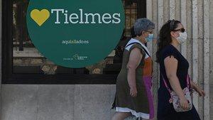Vista de una calle de la localidad madrilena de Tielmes.