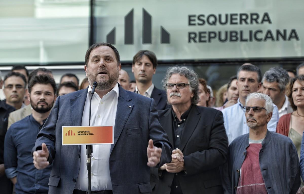 """El golpista Junqueras se desmarca de Torra en su entrevista escrita a TVE: """"Rechazo la violencia"""" 1466588875986"""