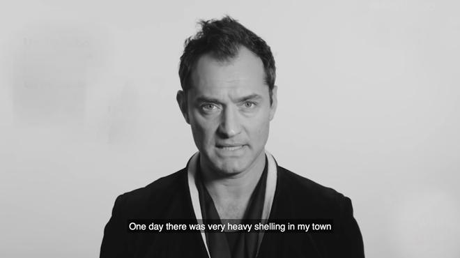 Jude Law, Basta a la guerra en Siria.