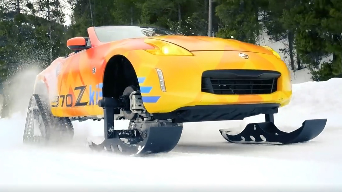 nissan hits the znow with the 370zki roadsteryoutubecom