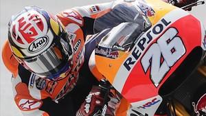 Pedrosa, a los mandos de su Honda en el test de Sepang