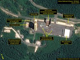 Imágenes de satélite que muestran el desmantelamiento de la base de Sohae.