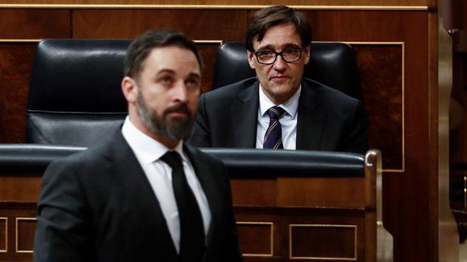El líder de Vox, Santiago Abascal, ha exigido a Pedro Sánchez el cese inmediato de Pablo Iglesias como vicepresidente tercero y que aplique el artículo 155 en Catalunya para apartar a Quim Torra de la Presidencia de la Generalitat.
