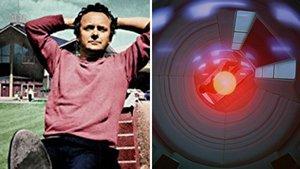 El actor Douglas Rain y la computadora Hal 9000.