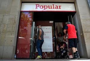Agencia del Banco Popular en Vilanova i la Geltrú, a principios de junio de este año.