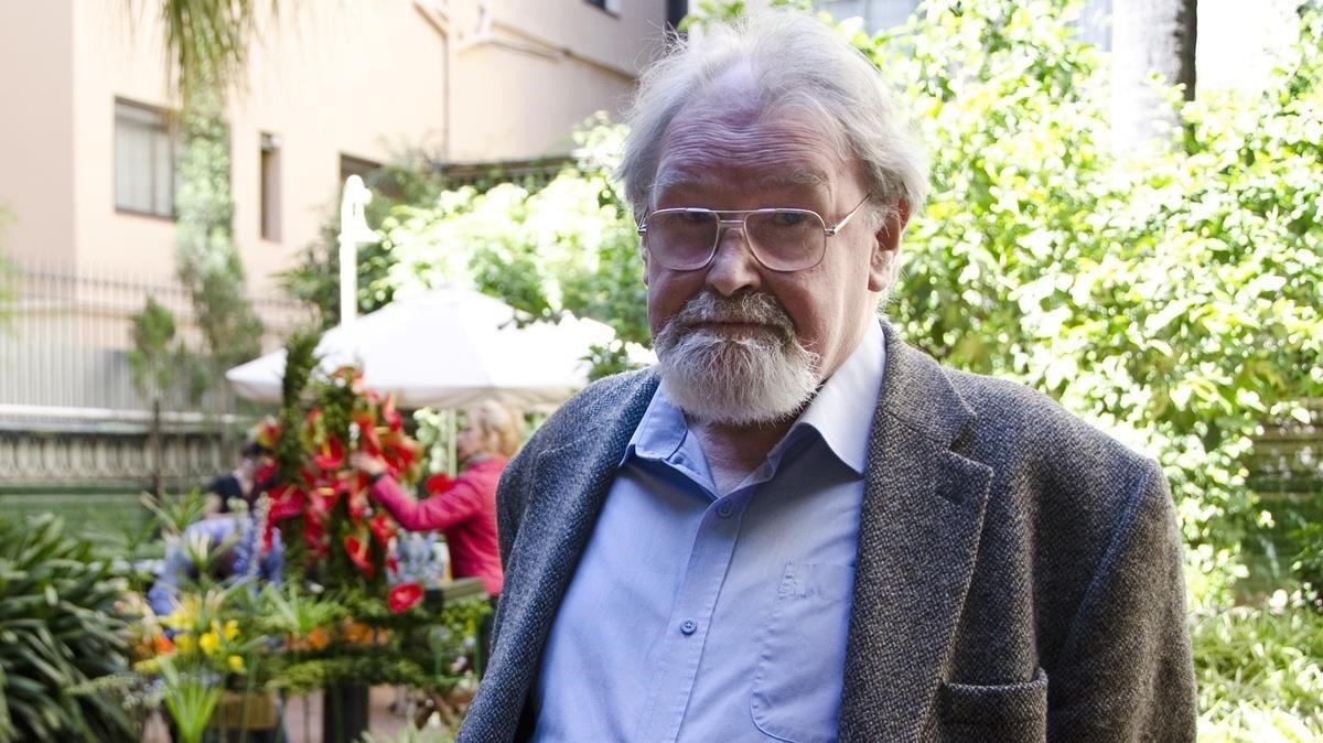 Alasdair Gray, en su última visita a Barcelona en el 2013.