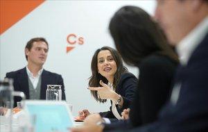 Albert Rivera e Inés Arrimadas en el comité permanente de Ciudadanos.