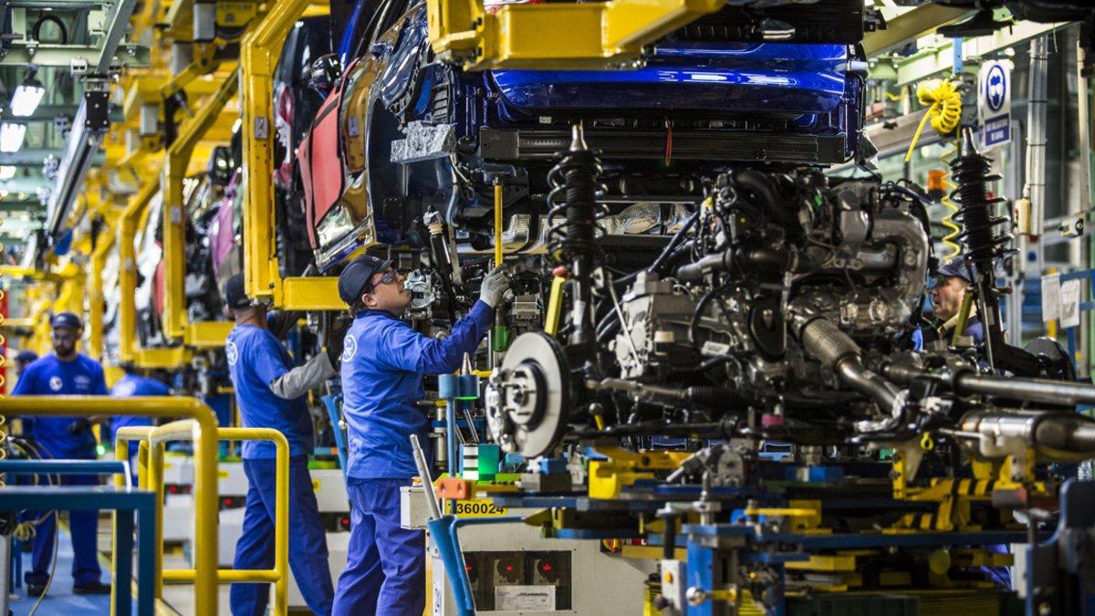 La planta de montaje de vehículos de Ford en Almussafes.