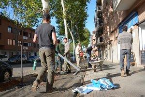Alumnes francesos de jardineria i paisatgisme fan pràctiques professionals a Rubí