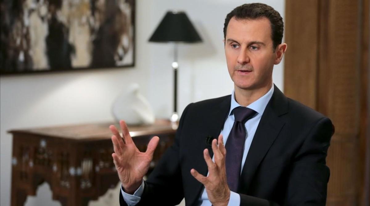 Asad, durante una entrevista con la agencia AFP, en Damasco, el 11 de febrero del 2016.