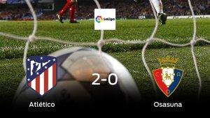 El Atlético de Madrid consigue la victoria en casa ante el Osasuna (2-0)