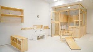 Una sala de juegos de Aurora, la nueva escola bressol.