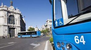 Autobuses de la Empresa Municipal de Transportes de Madrid.