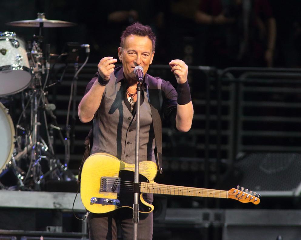 Bruce Springsteencon la E Street Banden un concierto en Filadelfiadurante su gira 'The River Tour 2016'.