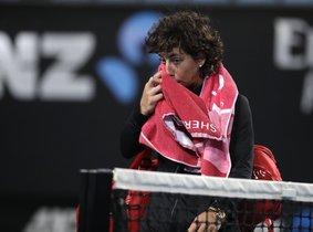 Carla Suárez, tras perder.
