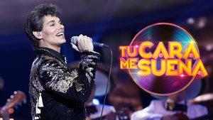 Carlos Baute imitando a Juan Miguel en 'Tu cara me suena'.