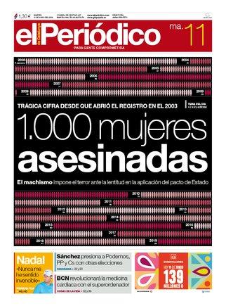 La portada d'EL PERIÓDICO de l'11 de juny del 2019