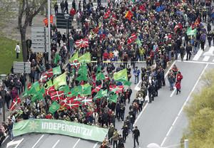 Podemos se suma a las celebraciones del Aberri Eguna (Día de la Patria vasca), protagonizadas hasta la fechapor las fomaciones nacionalistas.