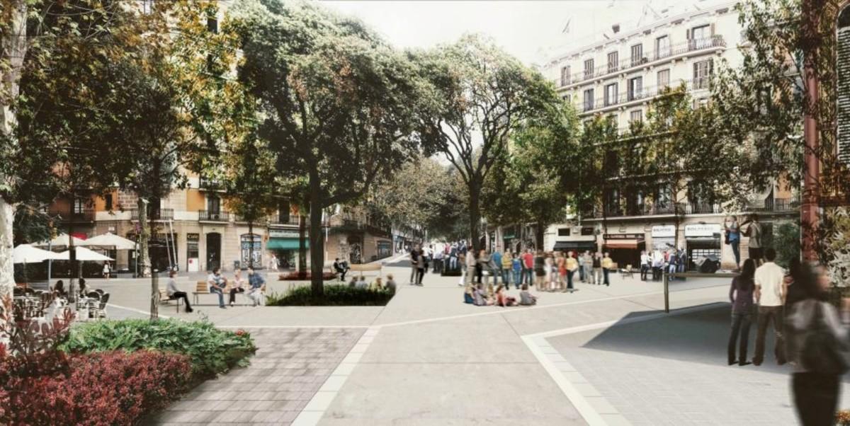 La nueva plaza que se generará en Tamarit-Borrell.