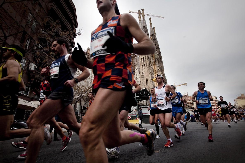 Corredores de la Marató de Barcelona, en una pasada edición.