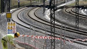 Curva de Angrois, donde se produjo el accidente del tren Alvia, en julio del 2013.