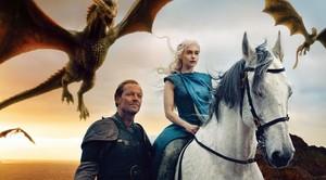 Daenerys Targaryen y lord Jorah Mormont, en 'Juego de Tronos'.