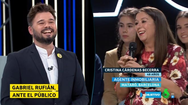 Gabriel Rufián y su nueva 'fan' (El objetivo).